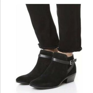 Sam Edelman Pirro Ankle Strap Suede Booties